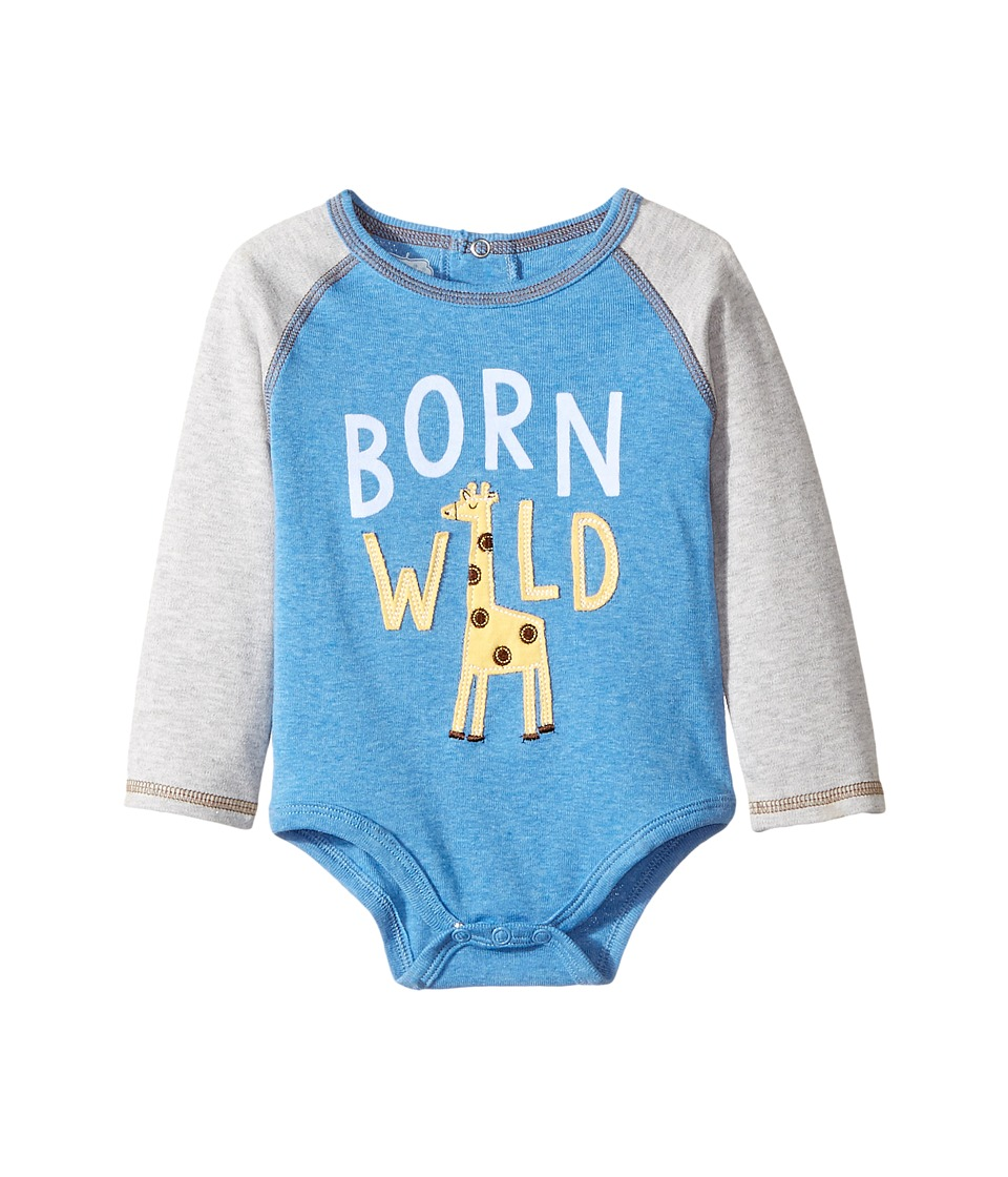 Mud Pie - Born Wild Crawler (Infant) (Blue) Boy's Jumpsuit & Rompers One Piece