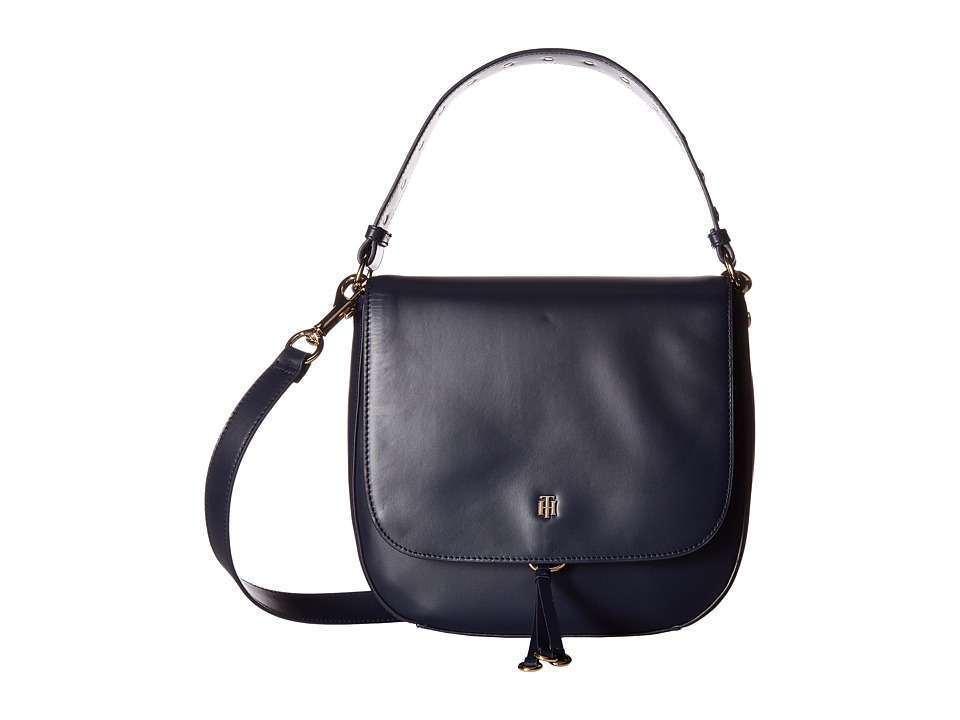 Tommy Hilfiger - Effortless Chic Star Saddle Bag (Tommy Navy) Handbags