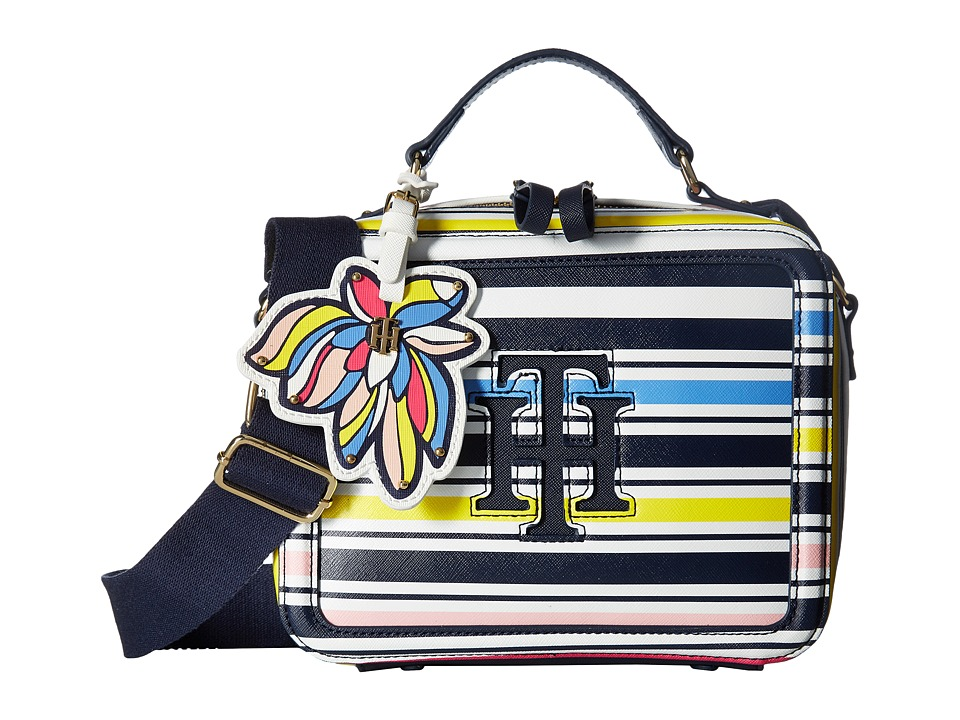Tommy Hilfiger - Odelia Stripe Crossbody (Marina/Multi) Cross Body Handbags