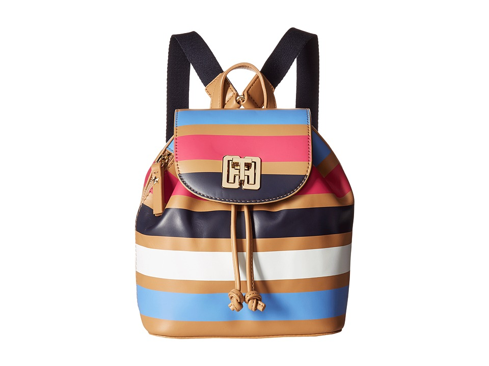 Tommy Hilfiger - TH Twist Stripe Backpack (Camel/Multi) Backpack Bags