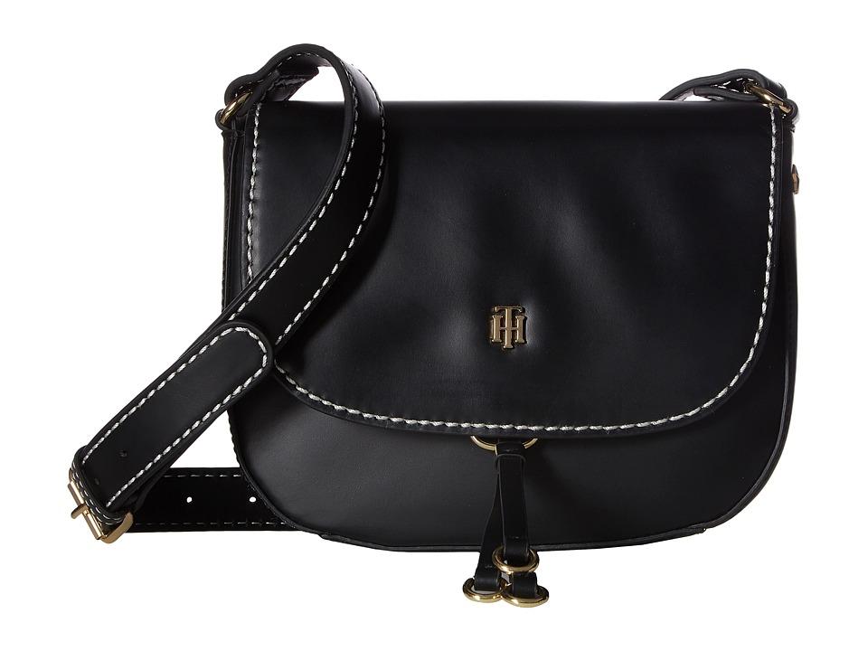 Tommy Hilfiger - Effortless Chic Saddle Bag (Black) Handbags