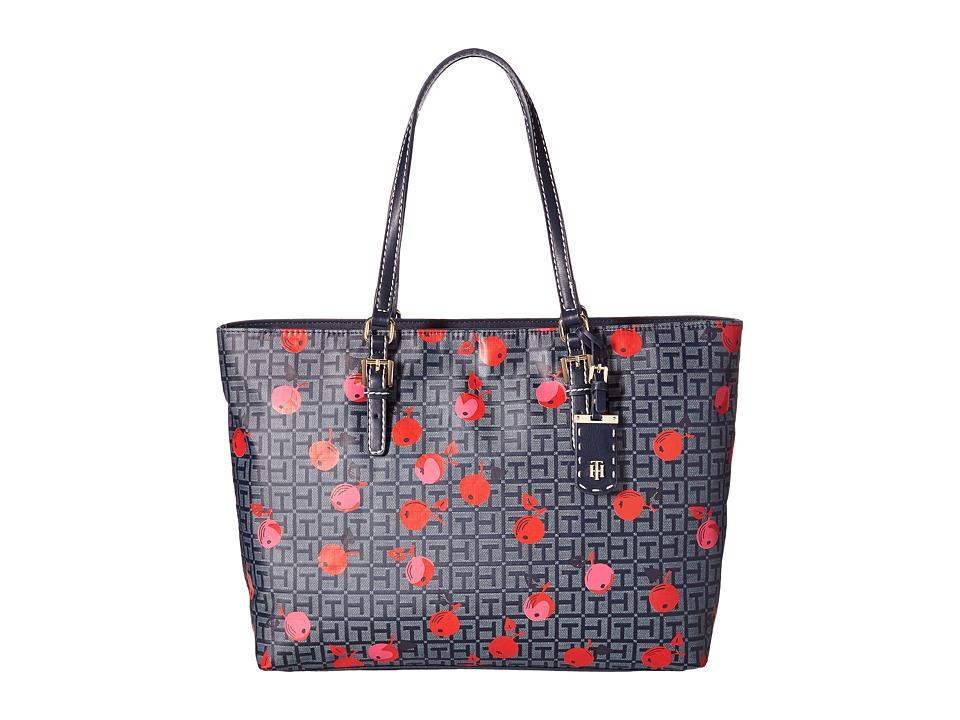 Tommy Hilfiger - Julia Cherry Tote (Navy/Tonal) Tote Handbags
