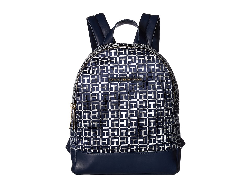 Tommy Hilfiger - Pauletta Jacquard Backpack (Navy/White) Backpack Bags