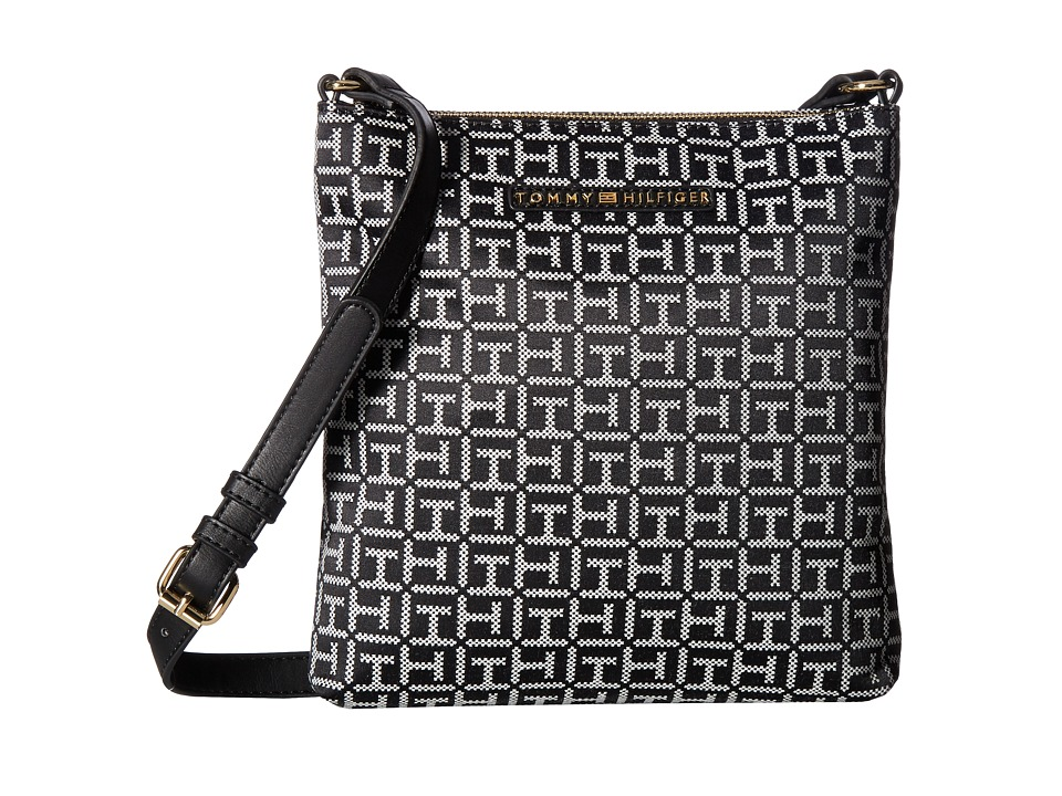 Tommy Hilfiger - Pauletta Jacquard Crossbody (Black/White) Cross Body Handbags