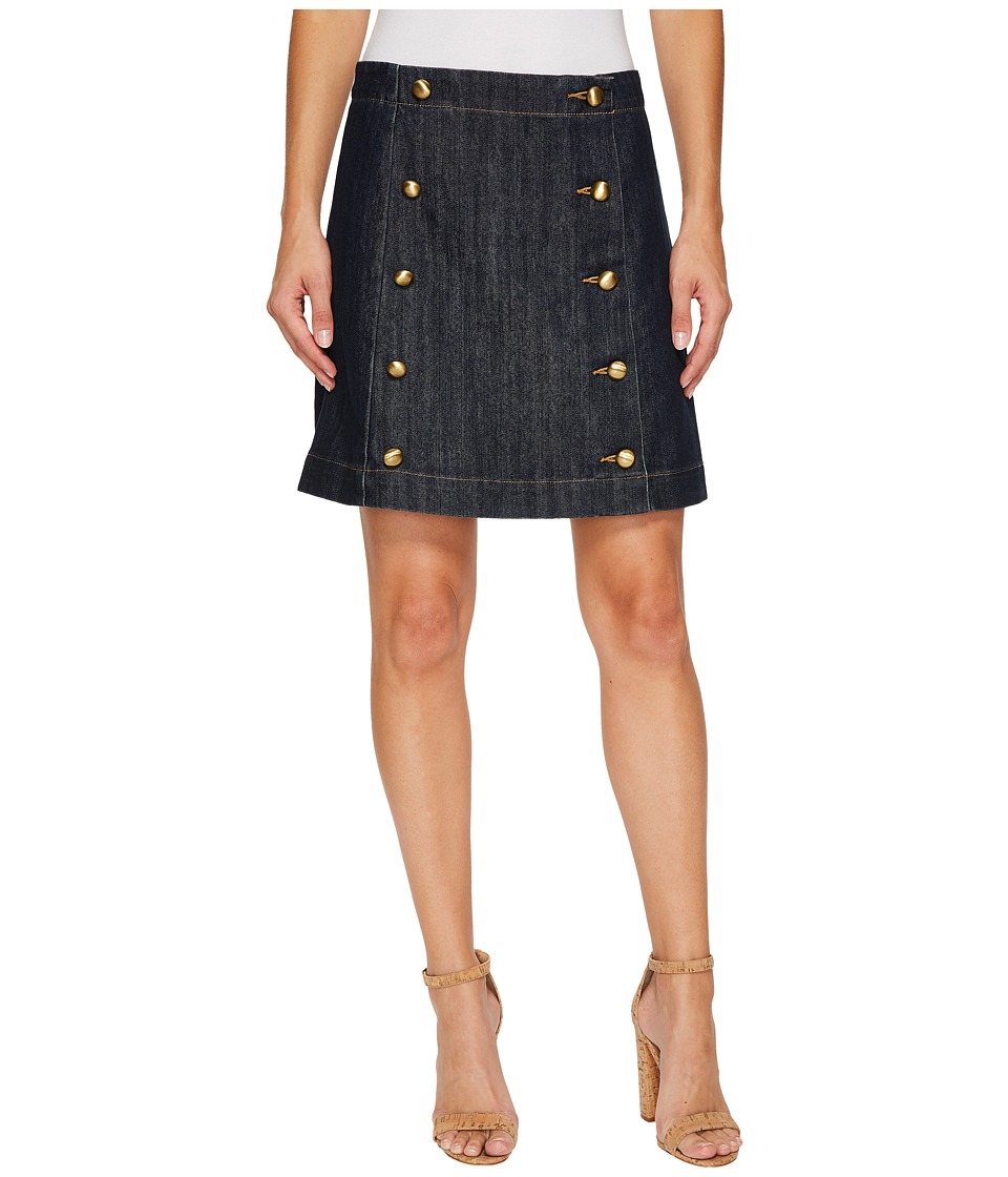 MICHAEL Michael Kors - Button Detail Mini Skirt (Premiere Indigo) Women's Skirt