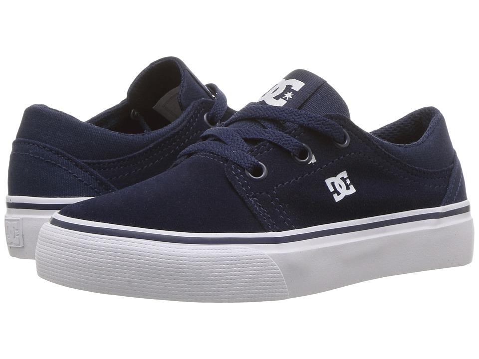 DC Kids Trase (Little Kid/Big Kid) (Navy) Boys Shoes