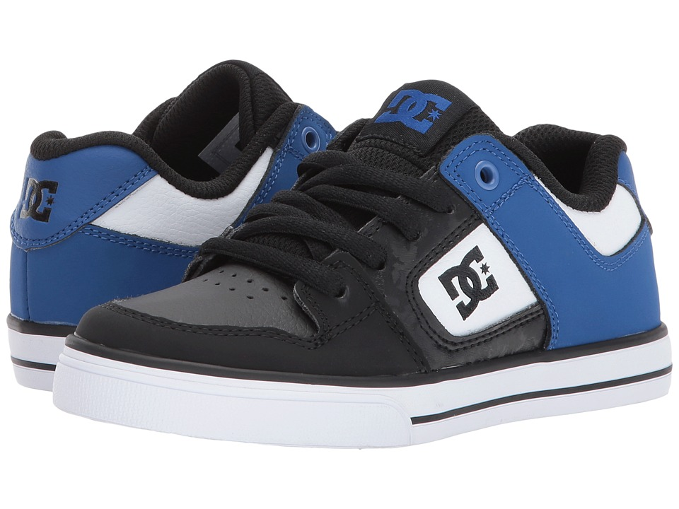 DC Kids - Pure (Little Kid/Big Kid) (Black/Blue/White) Boys Shoes