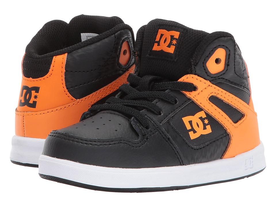 DC Kids Rebound UL (Toddler) (Orange/Black) Boys Shoes