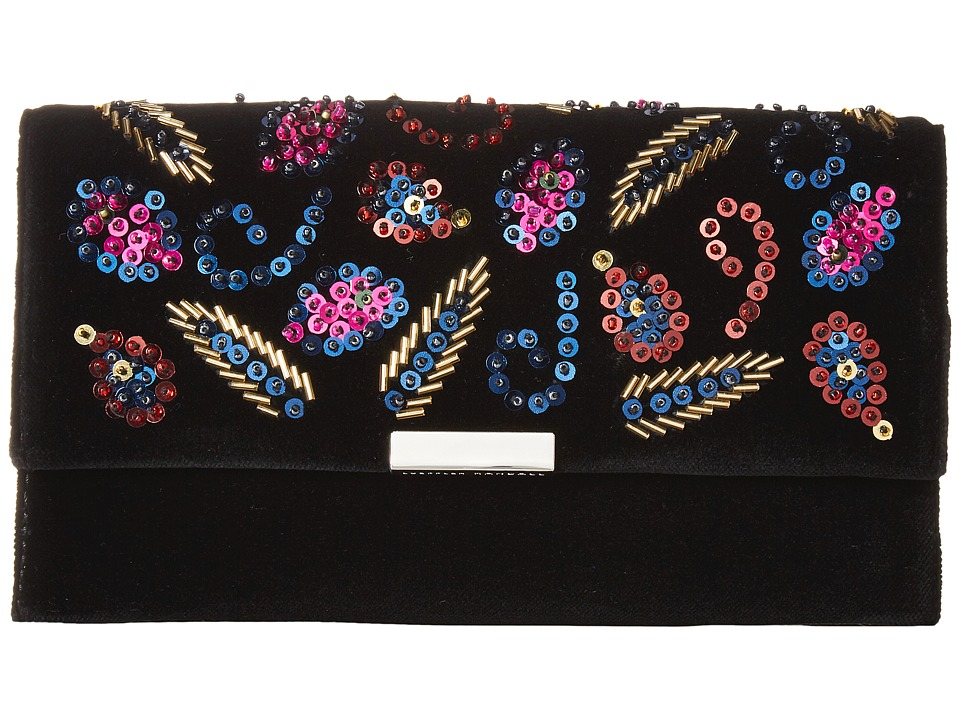 Loeffler Randall Tab Clutch (Black/Multi 2) Clutch Handbags