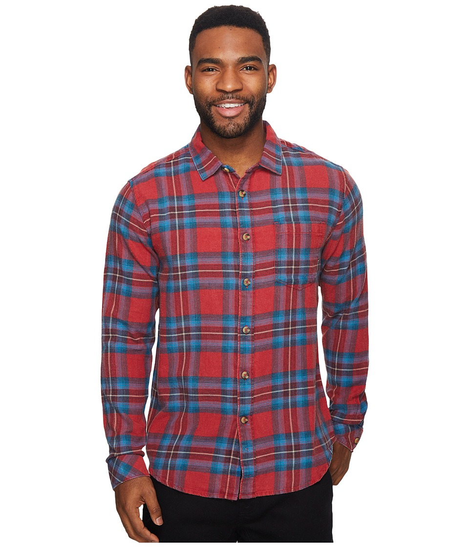 Billabong Freemont Flannel Long Sleeve Top (Red) Men
