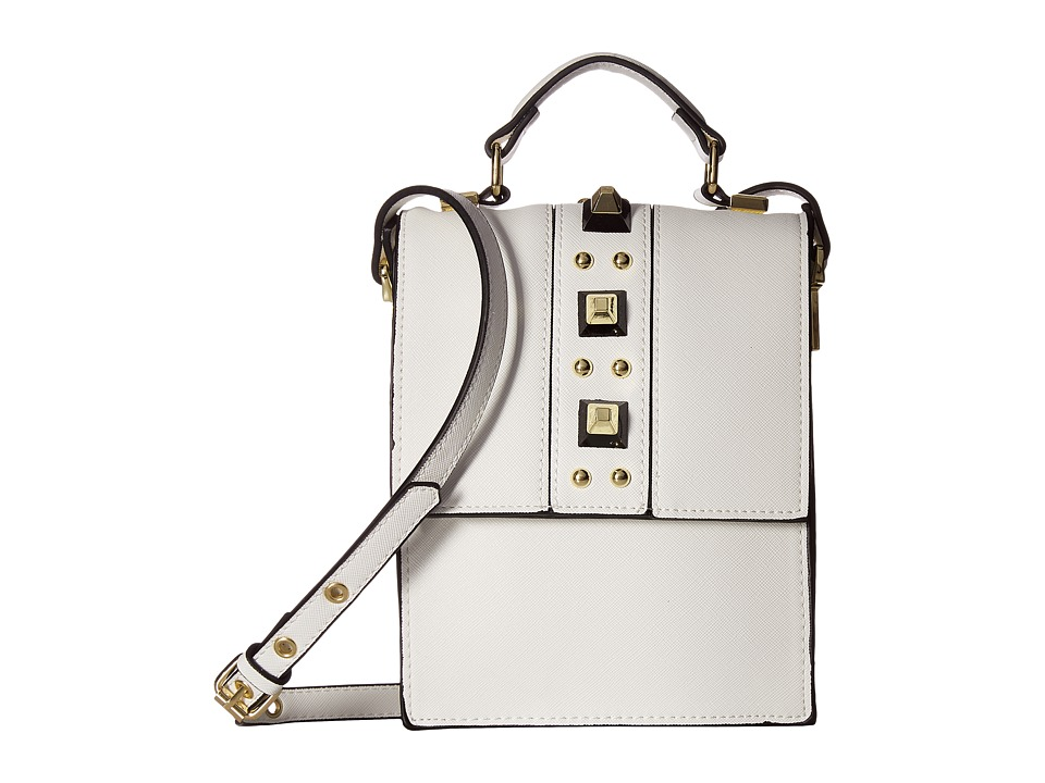 Steve Madden - Bjudy Stud Crossbody (White) Cross Body Handbags