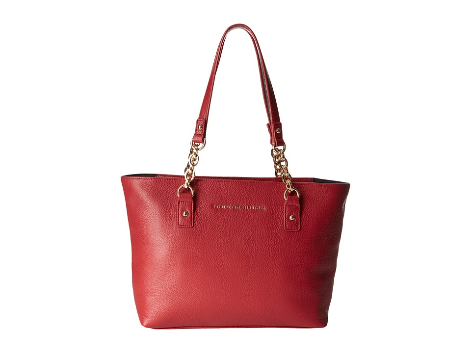 Tommy Hilfiger - Eloise Shopper Pebble Leather (Tommy Red) Handbags