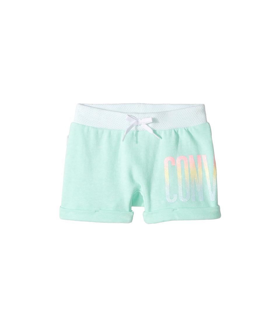 Converse Kids - Ombre Shorts (Little Kids) (Green Glow) Girl's Shorts