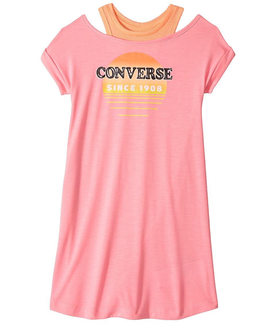 Converse Kids - Sail Into The Sun Dress (Big Kids) (Pink Glow Print) Girl's Dress