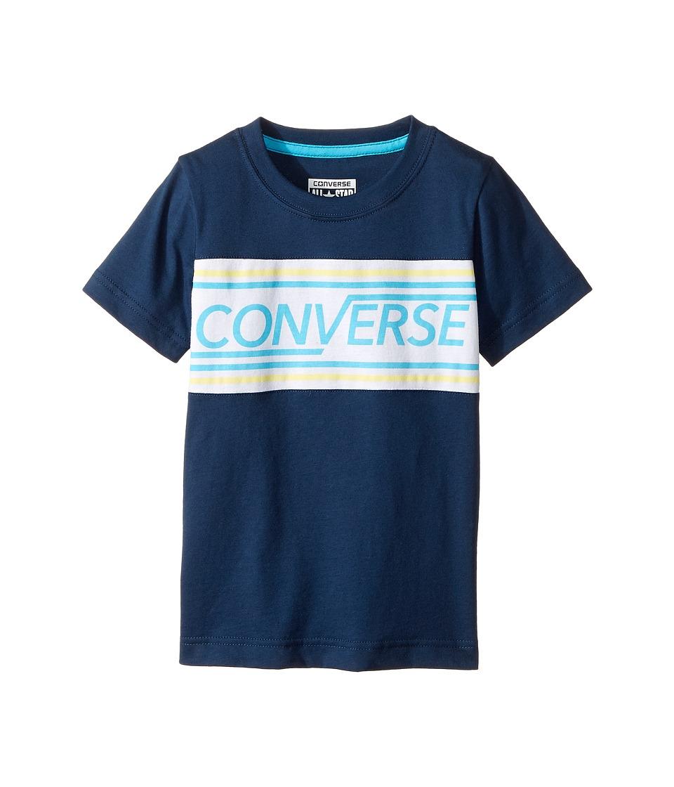 Converse Kids - Retro Tee (Little Kids) (All Star Navy) Boy's T Shirt