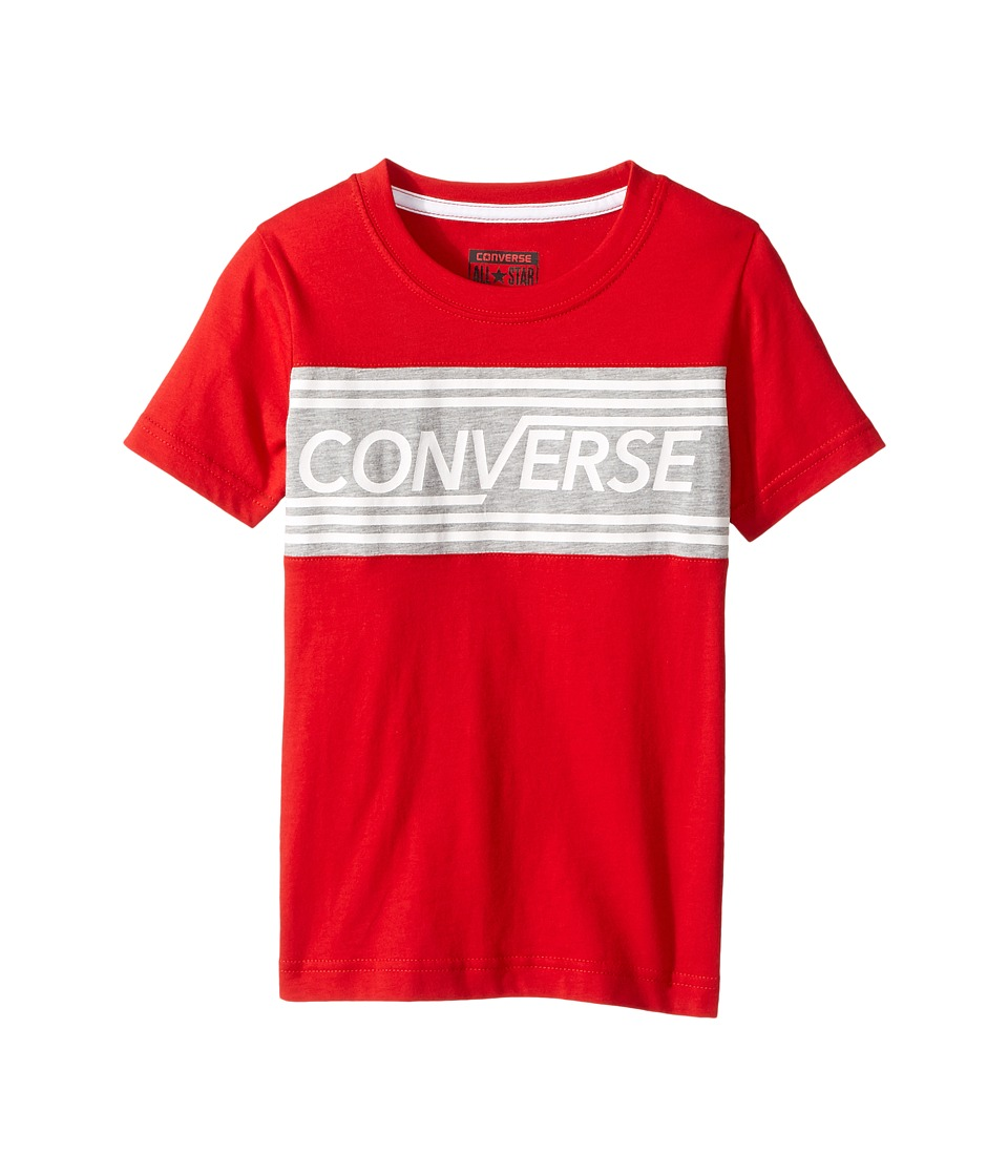 Converse Kids - Retro Tee (Little Kids) (Red) Boy's T Shirt