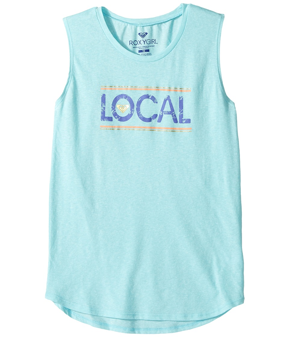 Roxy Kids - Live Local Muscle Tee (Big Kids) (Blue Radiance) Girl's T Shirt