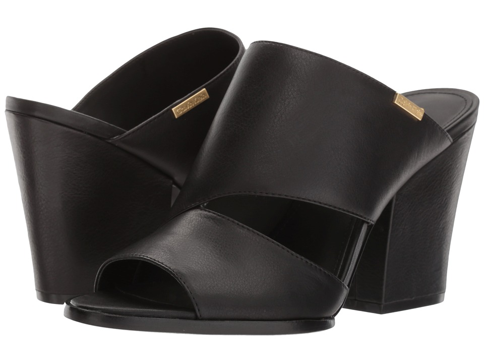 Calvin Klein - Wiley (Black Leather) Women's Shoes