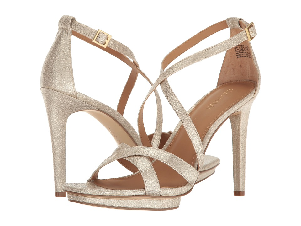 Calvin Klein - Vonnie (Sand Pearlized Leather) Women's Wedge Shoes