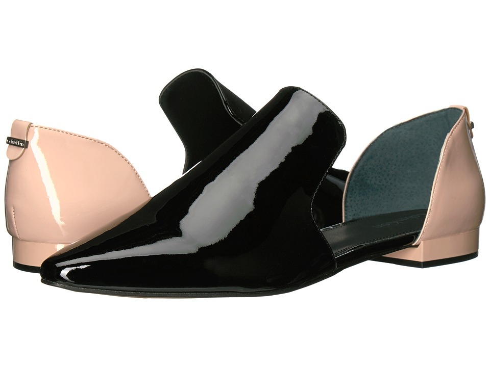 Calvin Klein Edona (Black/Sheer Satin Patent) Women