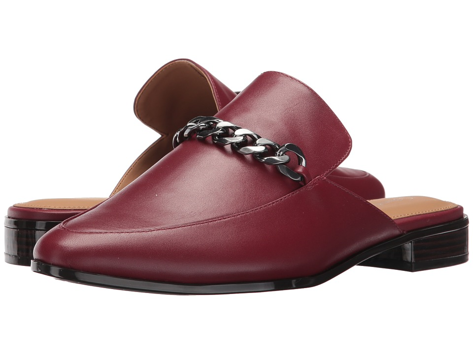 Calvin Klein - Frieda (Cherry Red Leather) Women's Shoes