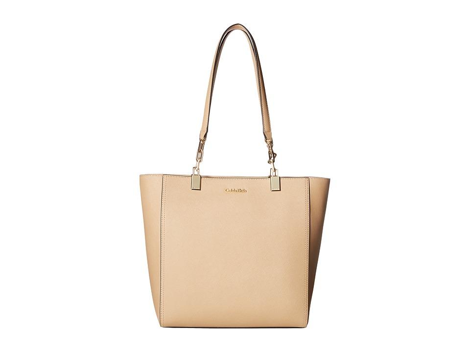 Calvin Klein - Key Item Saffiano Tote (Nude 3) Tote Handbags