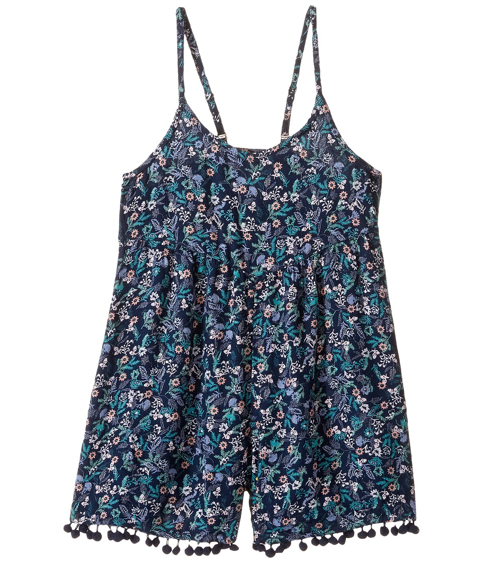 Roxy Kids - I Do Sometimes Romper (Toddler/Little Kids/Big Kids) (Dress Blues Rumba Ditsy) Girl's Jumpsuit & Rompers One Piece