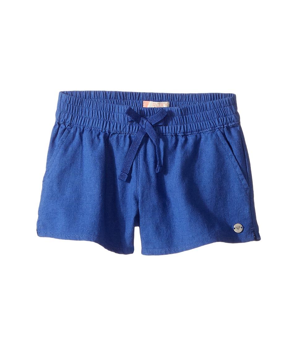 Roxy Kids - Color Into Eyes Shorts (Toddler/Little Kids/Big Kids) (Deep Ultramarine) Girl's Shorts