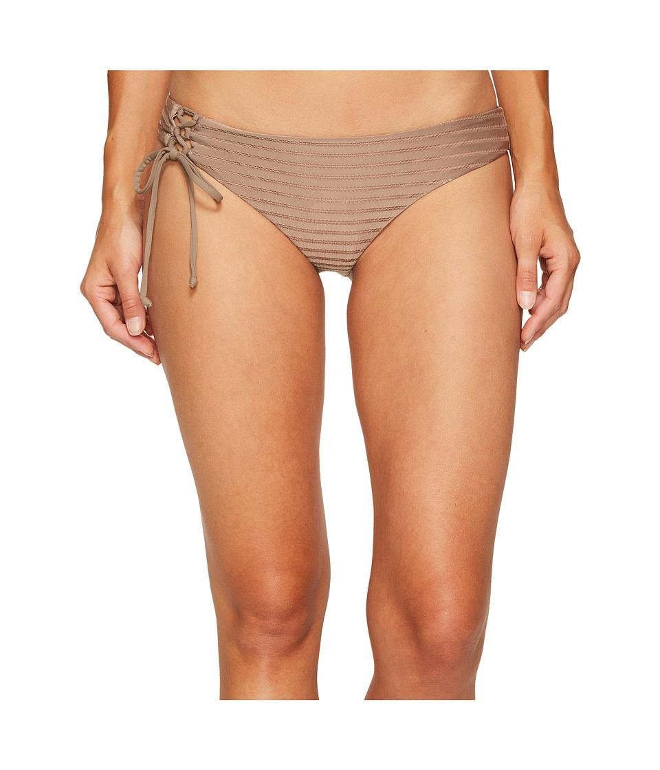 O'Neill - Adley Lace-Up Cheeky Bottom (Taupe) Women's Swimwear