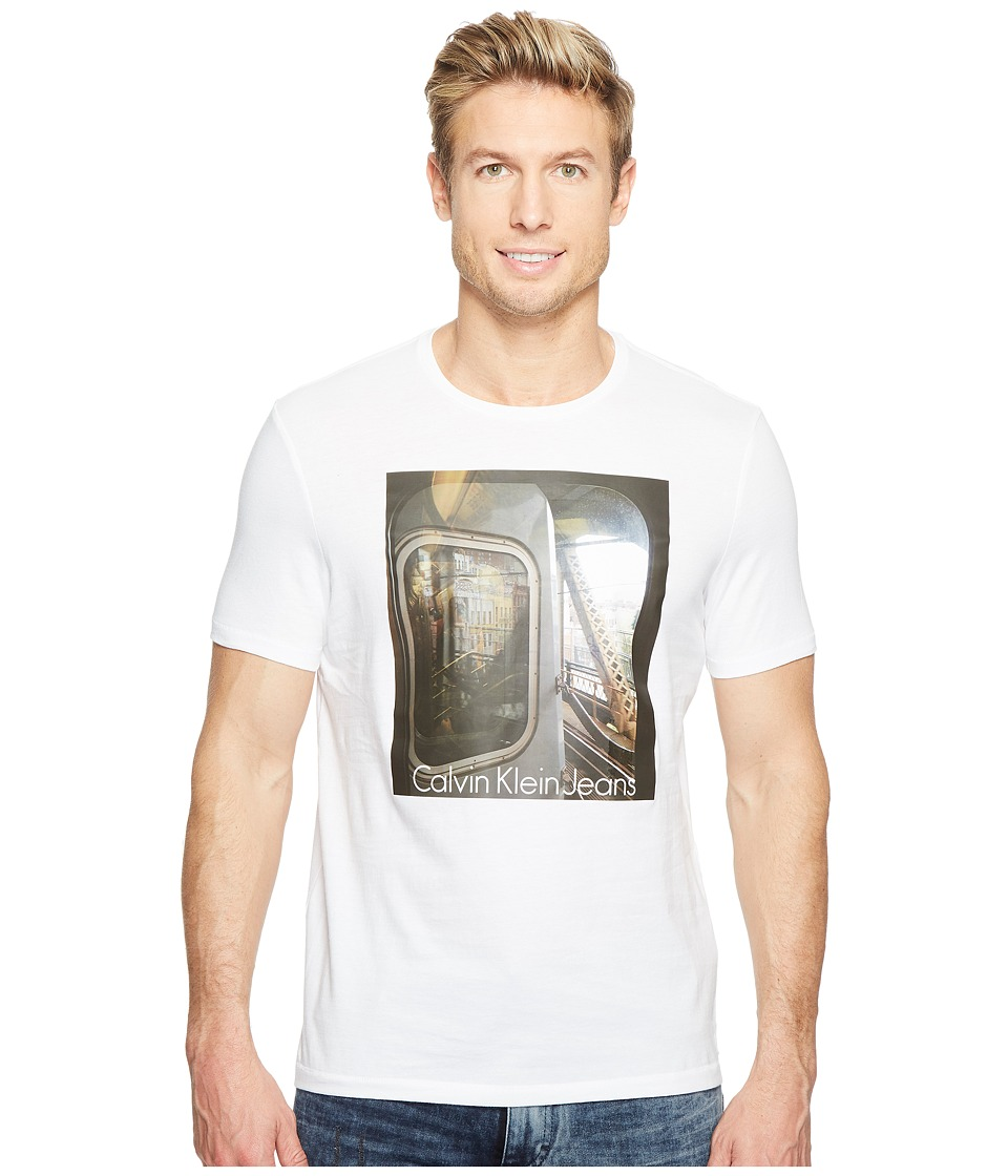 Calvin Klein Jeans Subway Short Sleeve Graphic Tee (White) Men