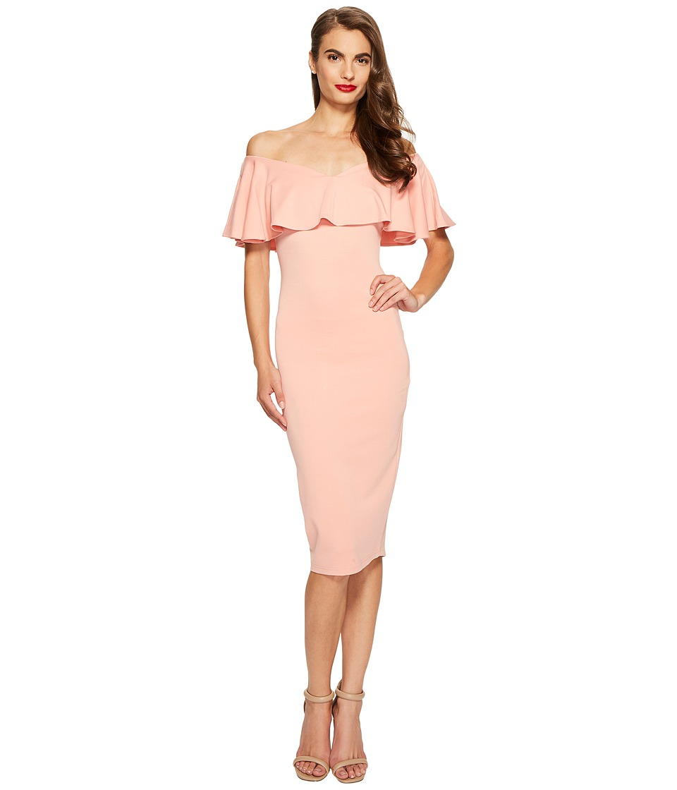 Unique Vintage - Ruffled Dress (Rose) Women's Dress