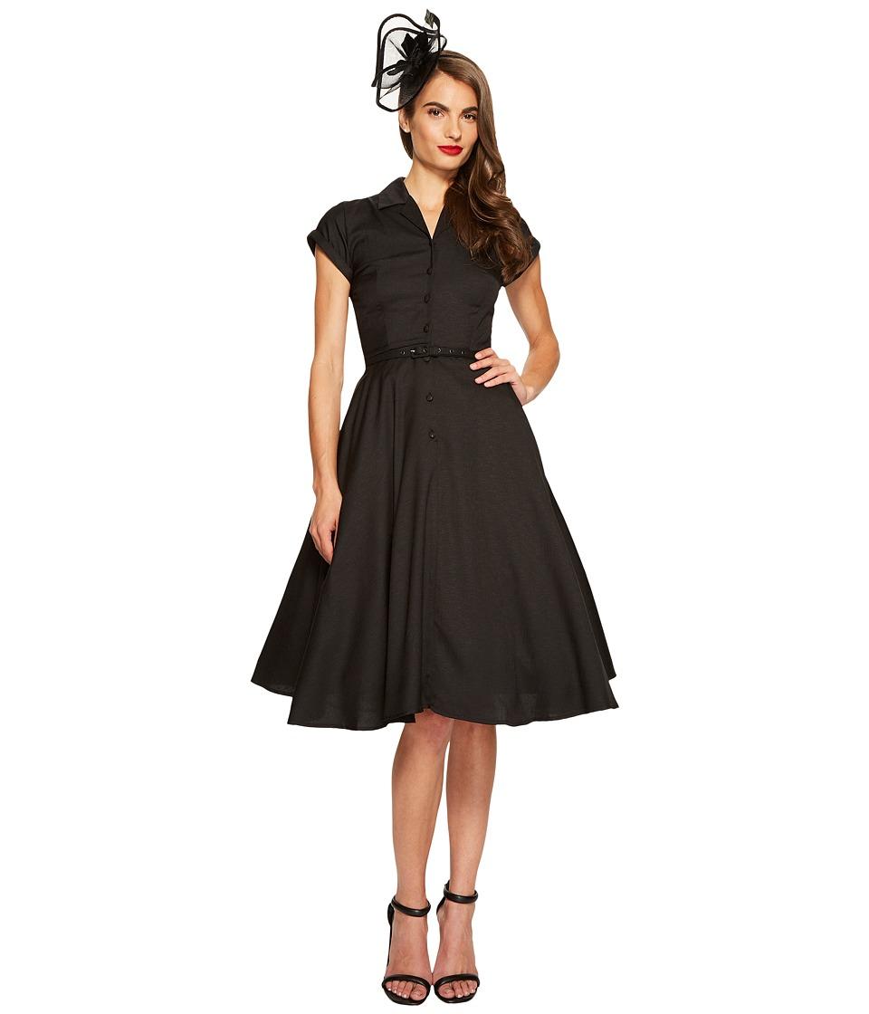 Unique Vintage - Alexis Shirtdress (Black) Women's Dress