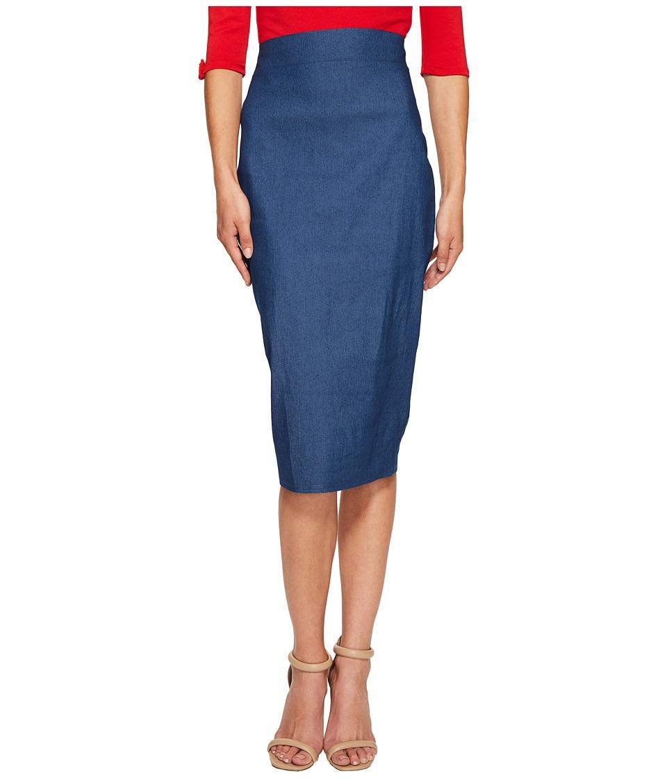 Unique Vintage - Pencil Skirt (Denim) Women's Skirt