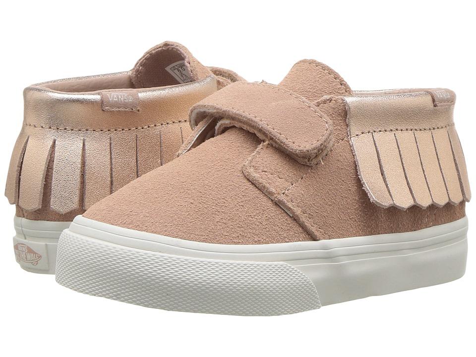 Vans Kids Chukka V Moc (Toddler) ((Metallic) Rose Gold) Girls Shoes