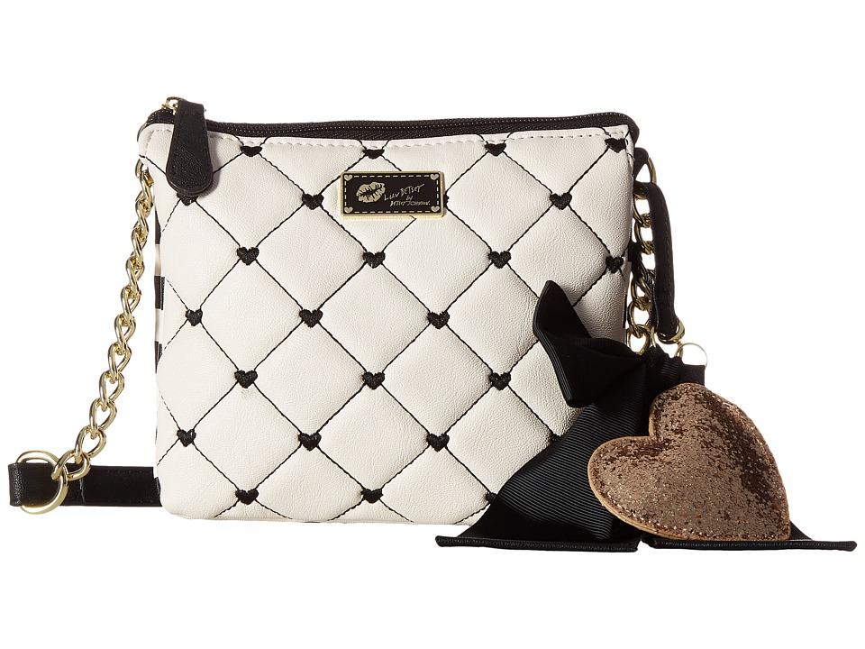 Luv Betsey - Double Crossbody (Black/Ivory) Cross Body Handbags