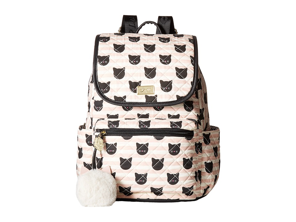 Luv Betsey - Grad Cotton Quilted Backpack (Black/Pink) Backpack Bags