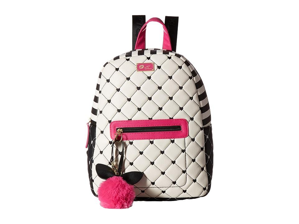 Luv Betsey - Demi PVC Backpack (Fuchsia/White) Backpack Bags