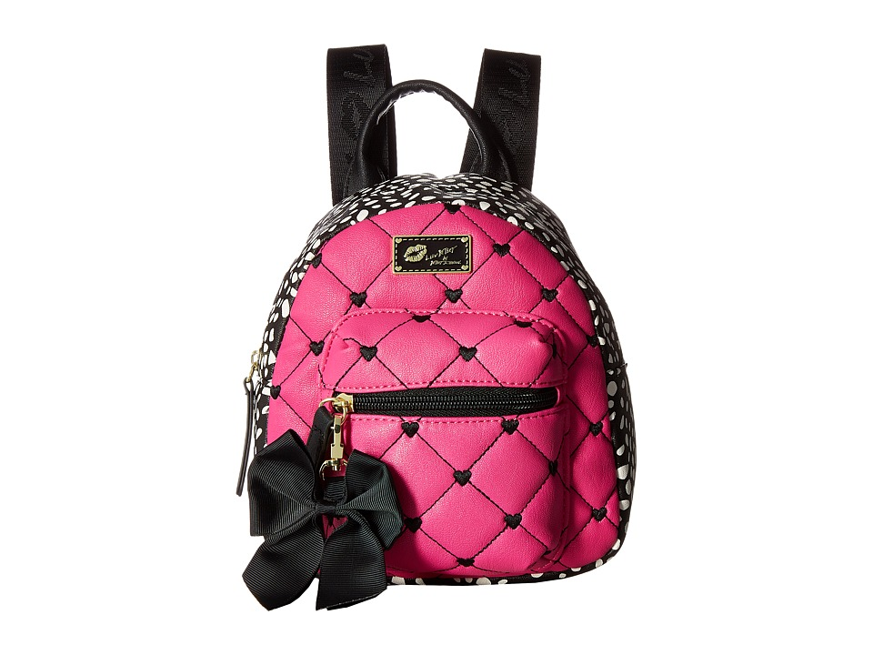Luv Betsey - Ador Mini Backpack (Black/Fuchsia) Backpack Bags