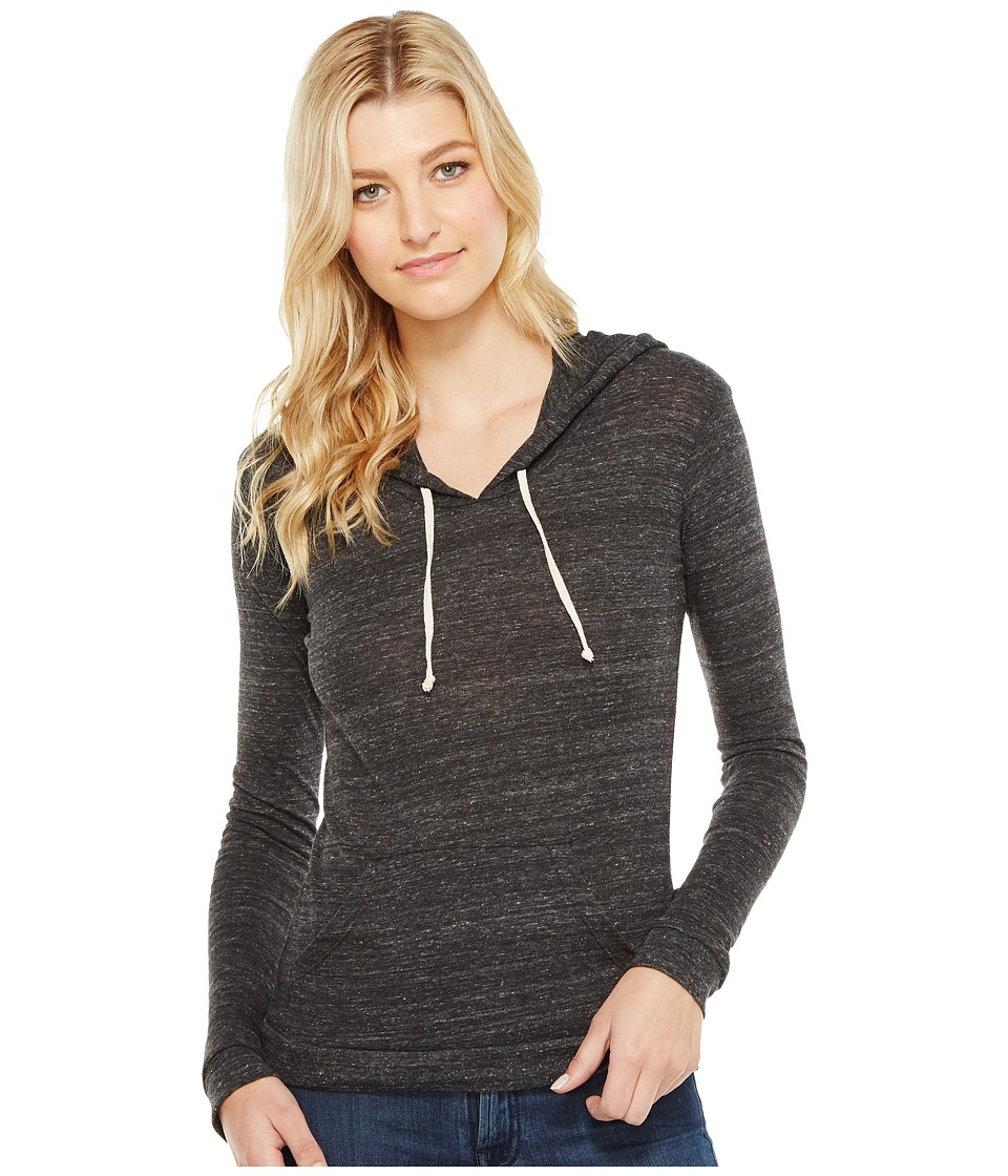 Alternative - Eco Jersey Classic Pullover Hoodie (Eco Black) Women's Sweatshirt