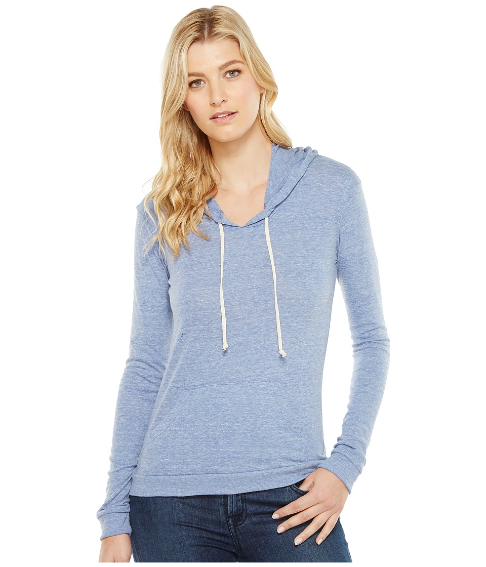Alternative - Eco Jersey Classic Pullover Hoodie (Eco Pacific Blue) Women's Sweatshirt