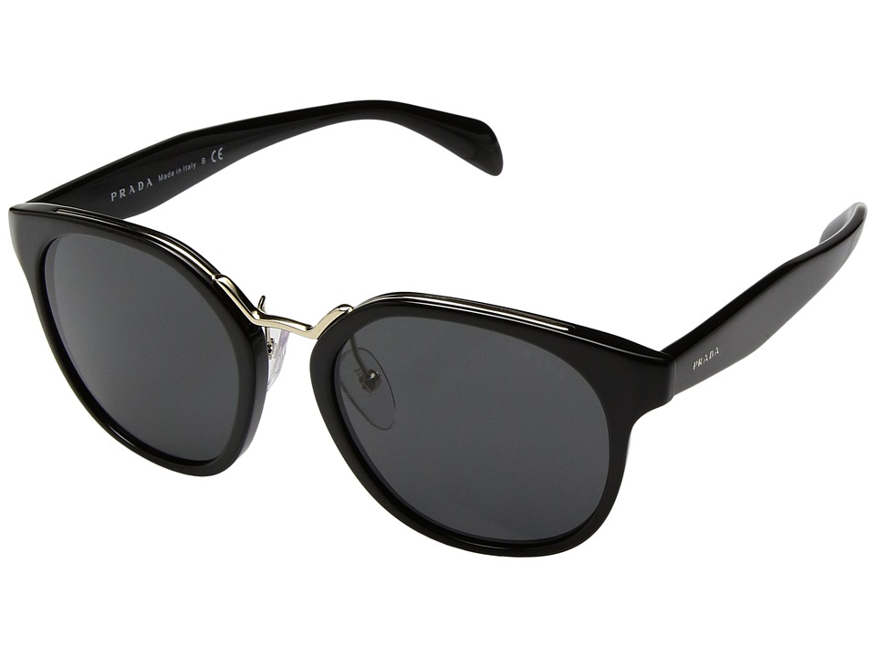 Prada - 0PR 17TS (Black/Grey) Fashion Sunglasses