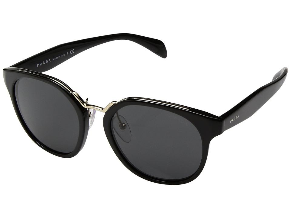 Prada - 0PR 17TS (Black/Grey) Fashion Sunglasses