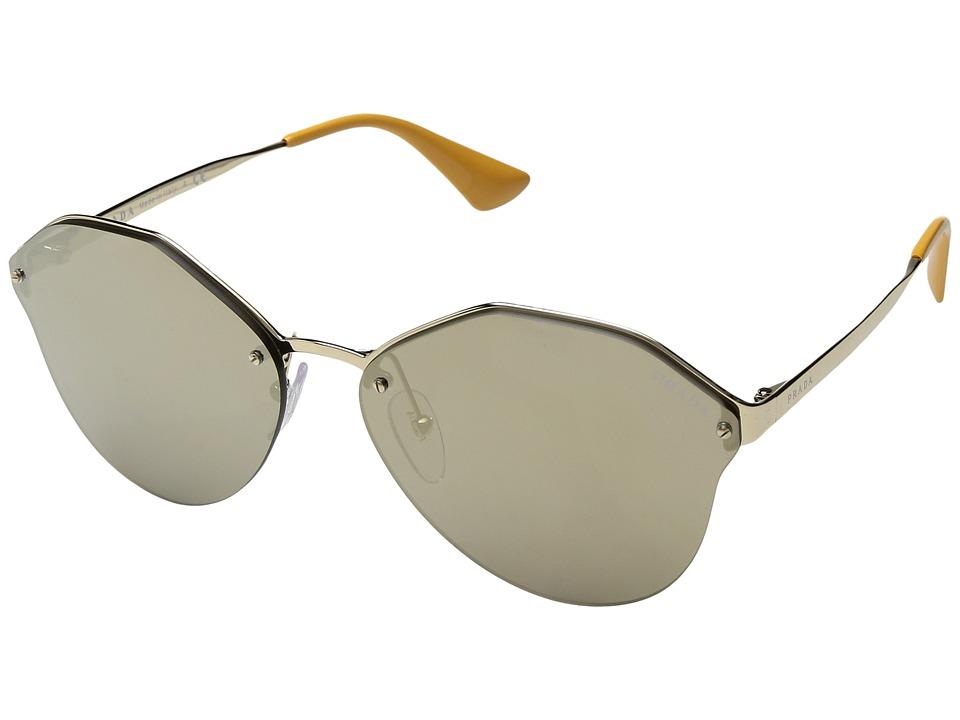 Prada - 0PR 64TS (Pale Gold/Light Brown Mirror Gold) Fashion Sunglasses