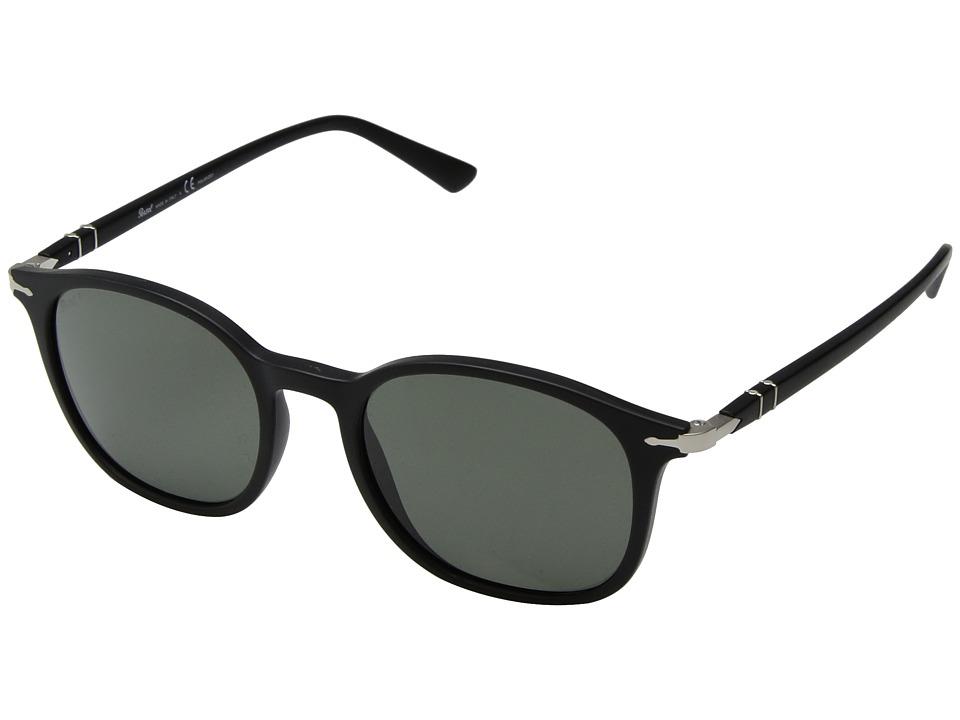 Persol - 0PO3182S (Matte Black/Polarized Green) Fashion Sunglasses