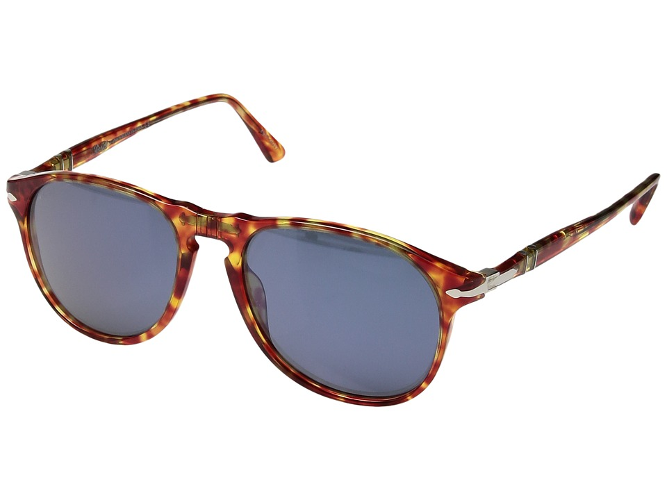 Persol - 0PO6649S (Limited Edition Red Tortoise/Light Blue) Fashion Sunglasses