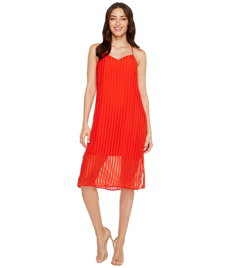 CeCe - Lacey - Striped Chiffon (Fiery Red) Women's Dress