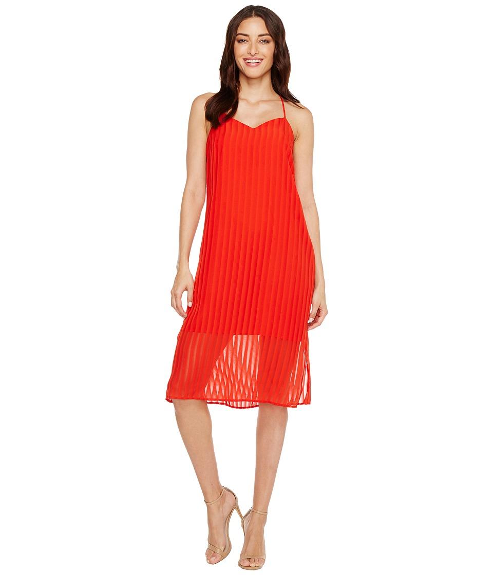 CeCe Lacey Striped Chiffon (Fiery Red) Women