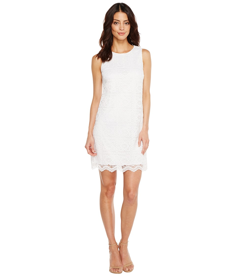 CeCe - Arlington - Sleeveless Square (Ultra White) Women's Dress