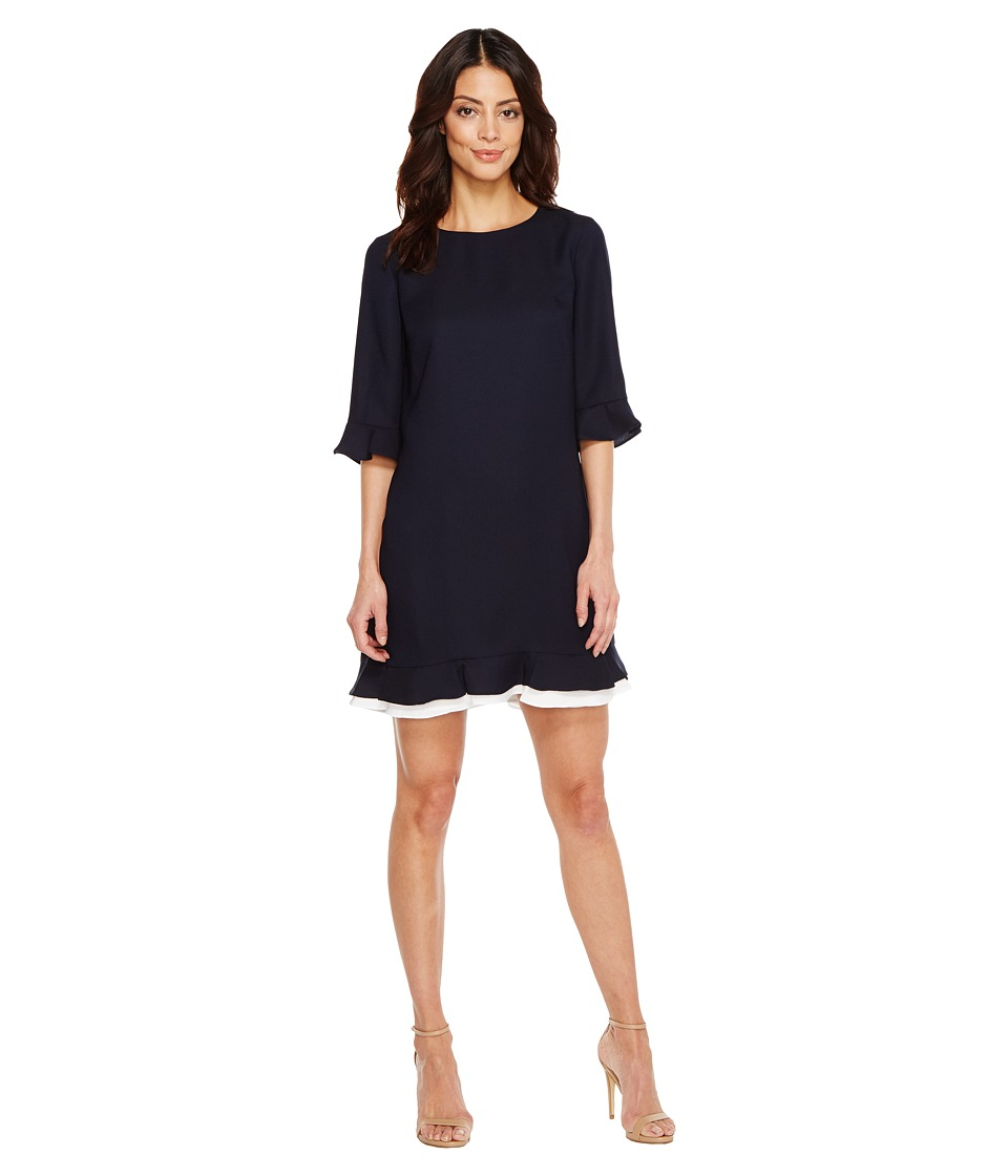 CeCe - Kate - 3/4 Sleeve Ruffle (Great Harbour) Women's Dress