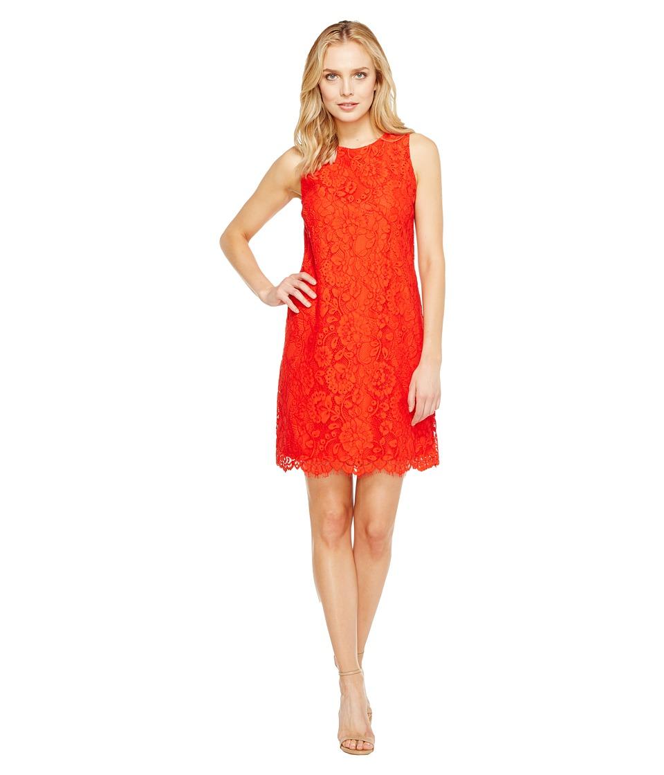 CeCe Arlington Sleeveless Floral (Fiery Red) Women